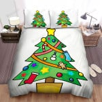 Blue Sock On The Christmas Tree Bed Sheets Spread Duvet Cover Bedding Sets