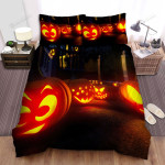 Halloween Jack-O-Lantern Funny Faces Bed Sheets Spread Duvet Cover Bedding Sets