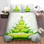 Green Liquid Dropped The Christmas Tree Bed Sheets Spread Duvet Cover Bedding Sets