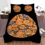 Halloween Different Kinds Of Jack-O-Lantern Bed Sheets Spread Duvet Cover Bedding Sets