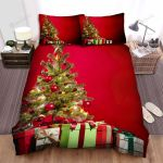 Gift Boxes Under A Christmas Tree Bed Sheets Spread Duvet Cover Bedding Sets