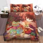 Merry Christmas, Christmas Tree Anime Bed Sheets Spread Duvet Cover Bedding Sets