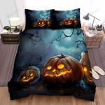 Halloween Dark Jack-O-Lantern Under The Moonlight Bed Sheets Spread Duvet Cover Bedding Sets