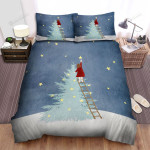 Taking Star From Sky To Put On Christmas Tree Bed Sheets Spread Duvet Cover Bedding Sets