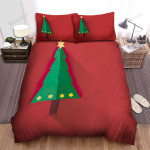 The Simple Christmas Tree With Stars Bed Sheets Spread Duvet Cover Bedding Sets