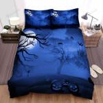Halloween Jack-O-Lantern Under Scary Dark Sky Bed Sheets Spread Duvet Cover Bedding Sets