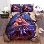 Halloween, Witch, Oval Window Bed Sheets Spread Duvet Cover Bedding Sets
