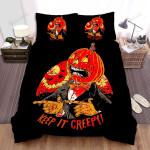 Halloween Jack-O-Lantern Keep It Creep Bed Sheets Spread Duvet Cover Bedding Sets