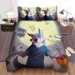 Halloween Cute Werewolf Trick Or Treat Bed Sheets Spread Duvet Cover Bedding Sets