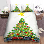 The Paint Of Green Christmas Tree Bed Sheets Spread Duvet Cover Bedding Sets
