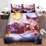 Halloween, Witch, The Curve Of Her Broom Bed Sheets Spread Duvet Cover Bedding Sets