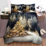 Only One Sparkle Christmas Tree In The Forest Bed Sheets Spread Duvet Cover Bedding Sets