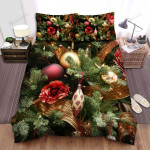 The Christmas Tree Has Rose Bed Sheets Spread Duvet Cover Bedding Sets