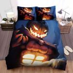 Halloween Jack-O-Lantern Digital Art Portrait Bed Sheets Spread Duvet Cover Bedding Sets