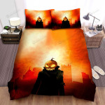 Halloween Jack-O-Lantern In Red Sky Bed Sheets Spread Duvet Cover Bedding Sets