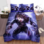 Halloween Three Werewolves Under The Rain Bed Sheets Spread Duvet Cover Bedding Sets