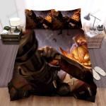 Halloween Jack-O-Lantern With Gatling Gun Bed Sheets Spread Duvet Cover Bedding Sets