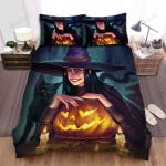 Halloween, Witch, She Has Wicked Smile Bed Sheets Spread Duvet Cover Bedding Sets