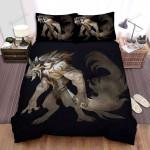 Halloween Beautiful Werewolf Illustration Bed Sheets Spread Duvet Cover Bedding Sets
