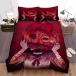 Halloween School Girl With Jack-O-Lantern Mask Bed Sheets Spread Duvet Cover Bedding Sets