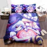 Halloween, Witch, Flying By Her Wings  Bed Sheets Spread Duvet Cover Bedding Sets