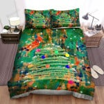 Spraying The Christmas Tree Art Bed Sheets Spread Duvet Cover Bedding Sets