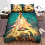 Buying Ice Cream Under The Christmas Tree Decorations Bed Sheets Spread Duvet Cover Bedding Sets