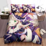 Halloween, Witch, Witch And Her Pink Wand Bed Sheets Spread Duvet Cover Bedding Sets