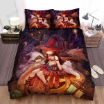 Halloween, Witch, They Have Scary Pets Witch Bed Sheets Spread Duvet Cover Bedding Sets
