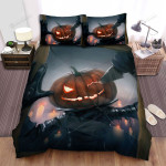Halloween Jack-O-Lantern In The Mirror Artwork Bed Sheets Spread Duvet Cover Bedding Sets