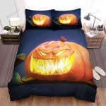 Halloween Jack-O-Lantern Smiling With Sharp Teeth Bed Sheets Spread Duvet Cover Bedding Sets