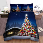 Christmas Tree Of A Small House Bed Sheets Spread Duvet Cover Bedding Sets