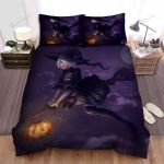 Halloween, Witch, Looks So Sad Bed Sheets Spread Duvet Cover Bedding Sets