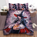 Halloween, Witch, Witch Has Horns Bed Sheets Spread Duvet Cover Bedding Sets