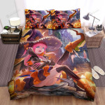 Halloween, Witch, Wings On Her Shoes Bed Sheets Spread Duvet Cover Bedding Sets