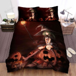 Halloween, Witch, The Naughty Smile Beside Books Bed Sheets Spread Duvet Cover Bedding Sets