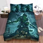 Halloween Werewolf On The Battle Field Bed Sheets Spread Duvet Cover Bedding Sets