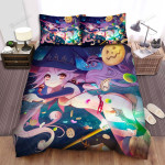 Halloween, Witch, Creating Many Candies Bed Sheets Spread Duvet Cover Bedding Sets