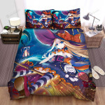 Halloween, Witch, Doll On Her Hip Witch Bed Sheets Spread Duvet Cover Bedding Sets