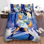 Halloween Cartoon Werewolf Girl Transformation Bed Sheets Spread Duvet Cover Bedding Sets