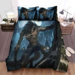 Halloween Werewolf On Top Of A House Bed Sheets Spread Duvet Cover Bedding Sets