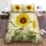 Sunflower Vintage Art Bed Sheets Spread Comforter Duvet Cover Bedding Sets