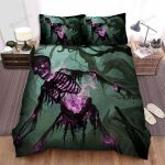 Halloween Purple Flame Skeleton Bed Sheets Spread Duvet Cover Bedding Sets
