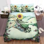 Sunflower Wheelchair Bed Sheets Spread Comforter Duvet Cover Bedding Sets