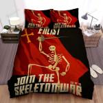 Halloween Join The Skeleton War Bed Sheets Spread Duvet Cover Bedding Sets