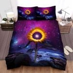 Sunflower Starry Night Galaxy Sea Bed Sheets Spread Comforter Duvet Cover Bedding Sets
