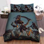 Halloween Skeleton Army Reborn Bed Sheets Spread Duvet Cover Bedding Sets