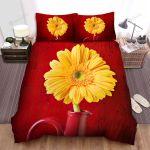 Sunflower Red Vase Bed Sheets Spread Comforter Duvet Cover Bedding Sets