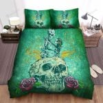 Halloween Skeleton Till Death Tear Us Apart Bed Sheets Spread Duvet Cover Bedding Sets