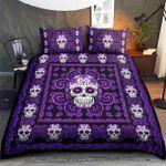 Purple Skull Bed Sheets Bedspread Duvet Cover Bedding Set